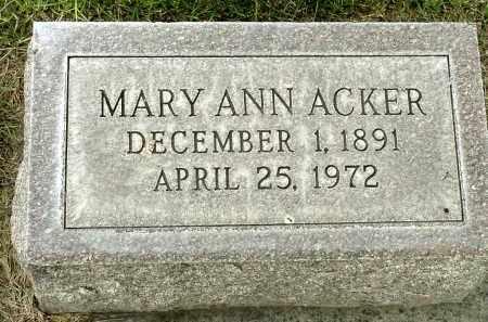 ACKER, MARY ANN - Box Butte County, Nebraska | MARY ANN ACKER - Nebraska Gravestone Photos