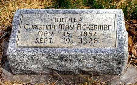 ACKERMAN, CHRISTINA MAY - Box Butte County, Nebraska | CHRISTINA MAY ACKERMAN - Nebraska Gravestone Photos