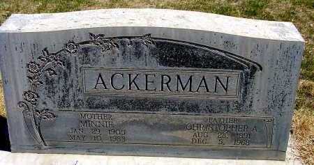 ACKERMAN, MINNIE - Box Butte County, Nebraska | MINNIE ACKERMAN - Nebraska Gravestone Photos