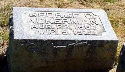 ACKERMAN, GEORGE C. - Box Butte County, Nebraska | GEORGE C. ACKERMAN - Nebraska Gravestone Photos