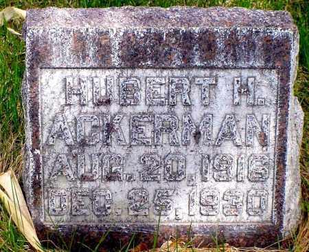 ACKERMAN, HUBERT H. - Box Butte County, Nebraska | HUBERT H. ACKERMAN - Nebraska Gravestone Photos