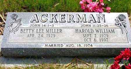 ACKERMAN, HAROLD WILLIAM - Box Butte County, Nebraska | HAROLD WILLIAM ACKERMAN - Nebraska Gravestone Photos