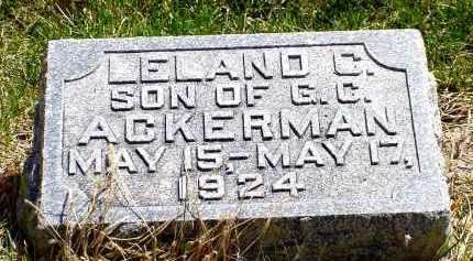 ACKERMAN, LELAND C. - Box Butte County, Nebraska | LELAND C. ACKERMAN - Nebraska Gravestone Photos