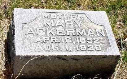 ACKERMAN, MARY - Box Butte County, Nebraska | MARY ACKERMAN - Nebraska Gravestone Photos
