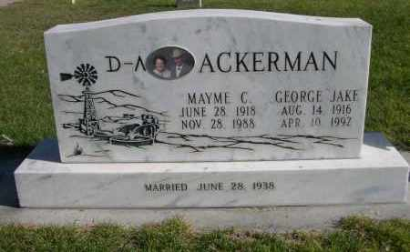"ACKERMAN, GEORGE ""JAKE"" - Box Butte County, Nebraska | GEORGE ""JAKE"" ACKERMAN - Nebraska Gravestone Photos"