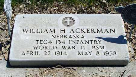 ACKERMAN, WILLIAM H. - Box Butte County, Nebraska   WILLIAM H. ACKERMAN - Nebraska Gravestone Photos