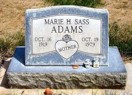 ADAMS, MARIE H. - Box Butte County, Nebraska | MARIE H. ADAMS - Nebraska Gravestone Photos