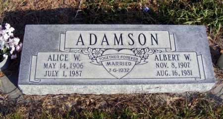 ADAMSON, ALBERT W. - Box Butte County, Nebraska   ALBERT W. ADAMSON - Nebraska Gravestone Photos