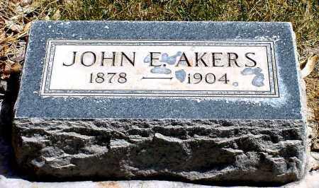 AKERS, JOHN E. - Box Butte County, Nebraska | JOHN E. AKERS - Nebraska Gravestone Photos