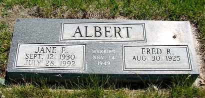 ALBERT, JANE E. - Box Butte County, Nebraska | JANE E. ALBERT - Nebraska Gravestone Photos