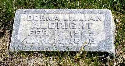 ALBRIGHT, DONNA LILLIAN - Box Butte County, Nebraska | DONNA LILLIAN ALBRIGHT - Nebraska Gravestone Photos