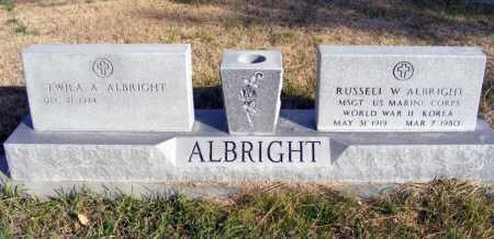 ALBRIGHT, TWILA A. - Box Butte County, Nebraska | TWILA A. ALBRIGHT - Nebraska Gravestone Photos