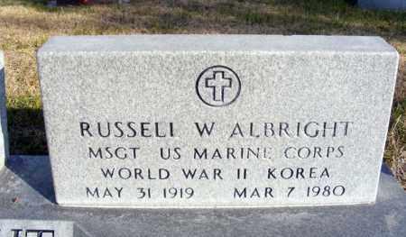 ALBRIGHT, RUSSELL W. - Box Butte County, Nebraska | RUSSELL W. ALBRIGHT - Nebraska Gravestone Photos