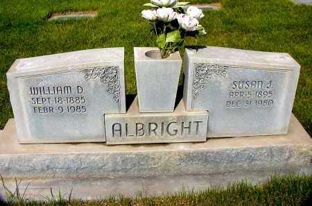ALBRIGHT, WILLIAM D. - Box Butte County, Nebraska | WILLIAM D. ALBRIGHT - Nebraska Gravestone Photos