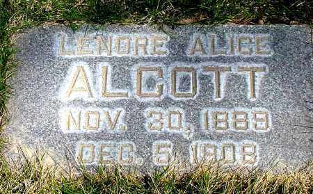 ALCOTT, LENORE ALICE - Box Butte County, Nebraska | LENORE ALICE ALCOTT - Nebraska Gravestone Photos