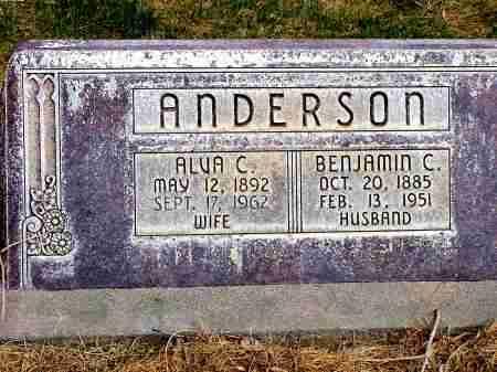 ANDERSON, BENJAMIN C. - Box Butte County, Nebraska   BENJAMIN C. ANDERSON - Nebraska Gravestone Photos