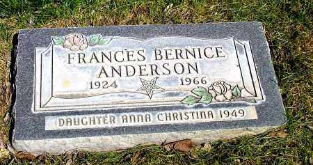 ANDERSON, FRANCES BERNICE - Box Butte County, Nebraska | FRANCES BERNICE ANDERSON - Nebraska Gravestone Photos