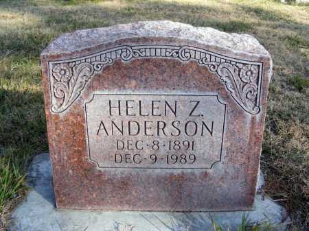 ANDERSON, HELEN Z. - Box Butte County, Nebraska   HELEN Z. ANDERSON - Nebraska Gravestone Photos