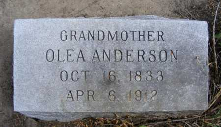 ANDERSON, OLEA - Box Butte County, Nebraska | OLEA ANDERSON - Nebraska Gravestone Photos