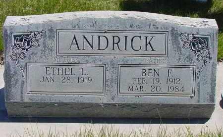 ANDRICK, ETHEL L. - Box Butte County, Nebraska | ETHEL L. ANDRICK - Nebraska Gravestone Photos