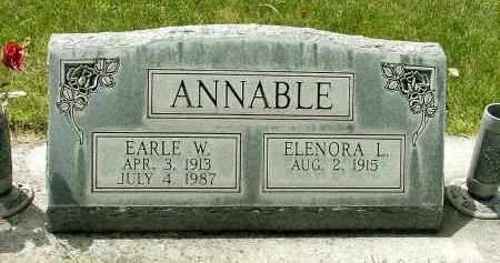 ANNABLE, ELENORA L. - Box Butte County, Nebraska   ELENORA L. ANNABLE - Nebraska Gravestone Photos