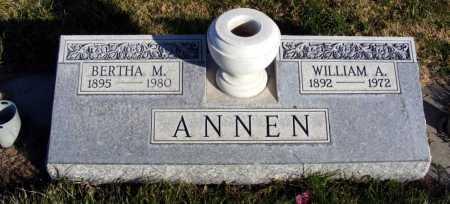 ANNEN, WILLIAM A. - Box Butte County, Nebraska | WILLIAM A. ANNEN - Nebraska Gravestone Photos