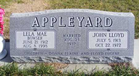 BOWSER APPLEYARD, LELA MAE - Box Butte County, Nebraska   LELA MAE BOWSER APPLEYARD - Nebraska Gravestone Photos