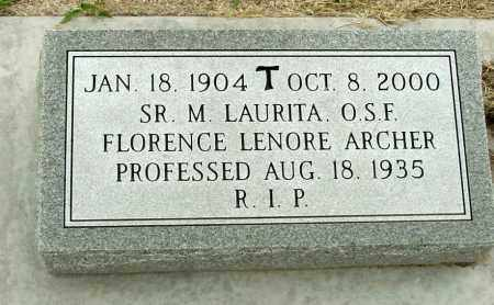 ARCHER, FLORENCE LENORE - Box Butte County, Nebraska   FLORENCE LENORE ARCHER - Nebraska Gravestone Photos