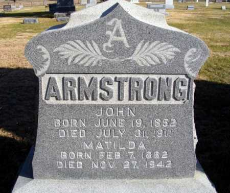 ARMSTRONG, JOHN - Box Butte County, Nebraska | JOHN ARMSTRONG - Nebraska Gravestone Photos