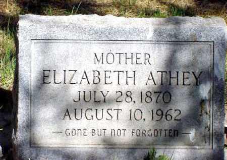 ATHEY, ELIZABETH - Box Butte County, Nebraska   ELIZABETH ATHEY - Nebraska Gravestone Photos