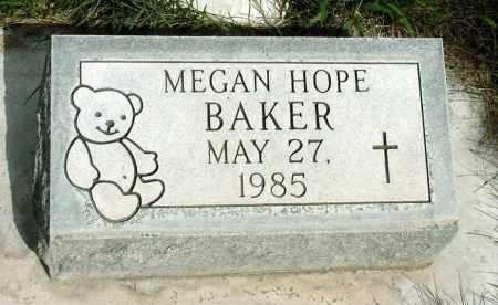 BAKER, MEGAN HOPE - Box Butte County, Nebraska   MEGAN HOPE BAKER - Nebraska Gravestone Photos