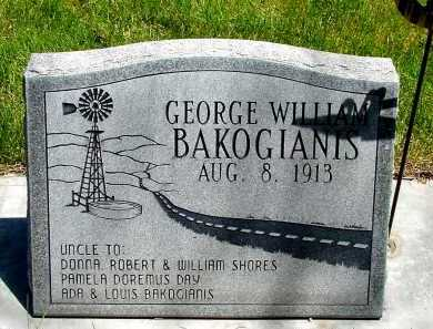 BAKOGIANIS, GEORGE WILLIAM - Box Butte County, Nebraska | GEORGE WILLIAM BAKOGIANIS - Nebraska Gravestone Photos