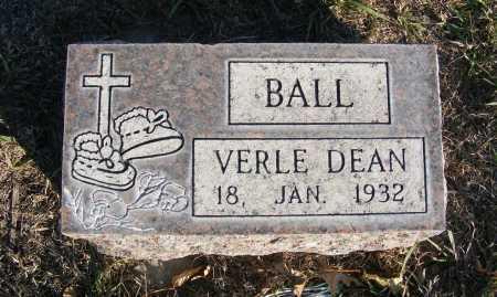 BALL, VERLE DEAN - Box Butte County, Nebraska | VERLE DEAN BALL - Nebraska Gravestone Photos