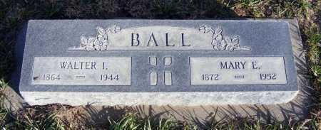BALL, WALTER I. - Box Butte County, Nebraska | WALTER I. BALL - Nebraska Gravestone Photos