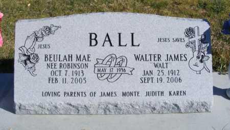 ROBINSON BALL, BEULAH MAE - Box Butte County, Nebraska | BEULAH MAE ROBINSON BALL - Nebraska Gravestone Photos