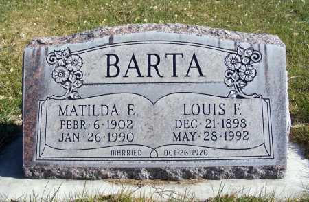 BARTA, MATILDA E. - Box Butte County, Nebraska   MATILDA E. BARTA - Nebraska Gravestone Photos