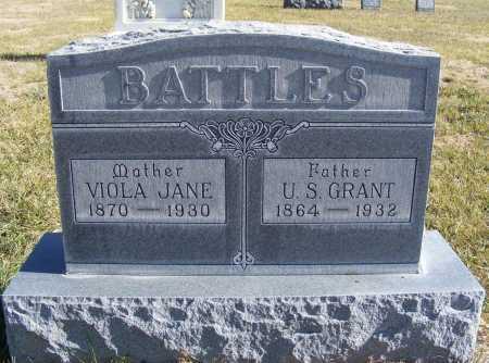BATTLES, U.S. GRANT - Box Butte County, Nebraska | U.S. GRANT BATTLES - Nebraska Gravestone Photos