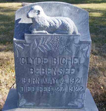 BEBENSEE, CLYDE BICHEL - Box Butte County, Nebraska | CLYDE BICHEL BEBENSEE - Nebraska Gravestone Photos