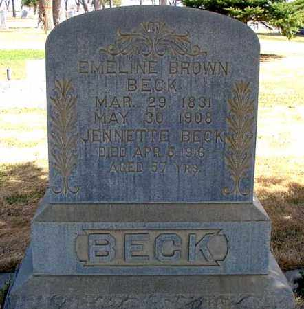 BECK, EMELINE - Box Butte County, Nebraska | EMELINE BECK - Nebraska Gravestone Photos