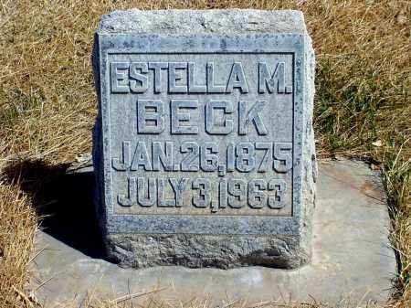 BECK, ESTELLA M. - Box Butte County, Nebraska | ESTELLA M. BECK - Nebraska Gravestone Photos
