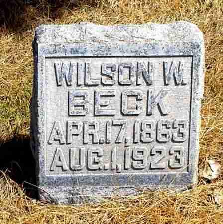BECK, WILSON W. - Box Butte County, Nebraska | WILSON W. BECK - Nebraska Gravestone Photos