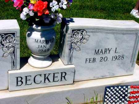 BECKER, MARY L. - Box Butte County, Nebraska | MARY L. BECKER - Nebraska Gravestone Photos
