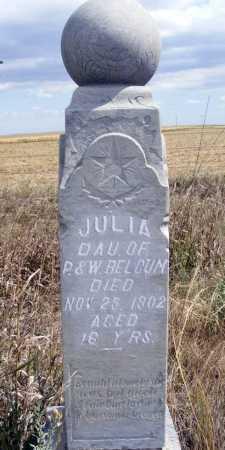 BELGUM, JULIA - Box Butte County, Nebraska   JULIA BELGUM - Nebraska Gravestone Photos