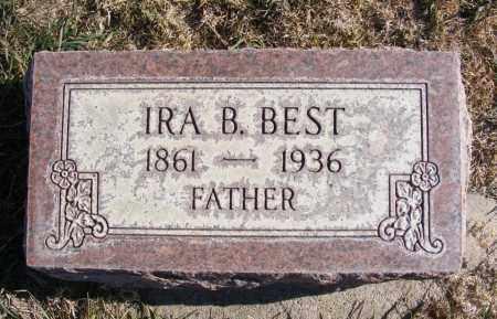 BEST, IRA B. - Box Butte County, Nebraska   IRA B. BEST - Nebraska Gravestone Photos