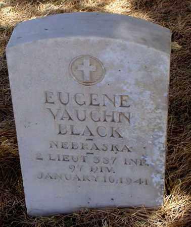 BLACK, EUGENE VAUGHN - Box Butte County, Nebraska | EUGENE VAUGHN BLACK - Nebraska Gravestone Photos