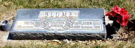 BLUME, JOHN - Box Butte County, Nebraska   JOHN BLUME - Nebraska Gravestone Photos