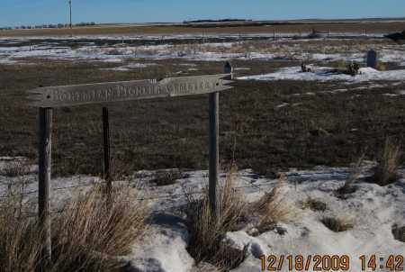 *BOHEMIAN PIONEER CEMETERY, SIGN AND VIEW OF - Box Butte County, Nebraska   SIGN AND VIEW OF *BOHEMIAN PIONEER CEMETERY - Nebraska Gravestone Photos