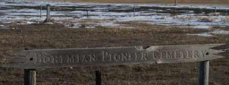 *BOHEMIAN PIONEER CEMETERY, SIGN - Box Butte County, Nebraska | SIGN *BOHEMIAN PIONEER CEMETERY - Nebraska Gravestone Photos