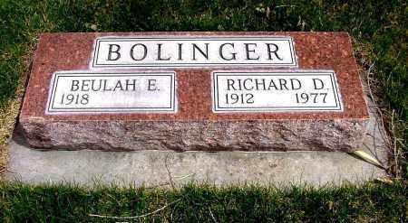 BOLINGER, RICHARD D. - Box Butte County, Nebraska   RICHARD D. BOLINGER - Nebraska Gravestone Photos