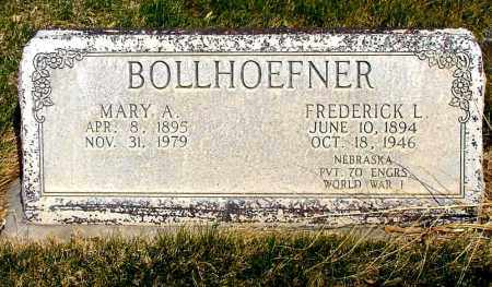 BOLLHOEFNER, FREDERICK L. - Box Butte County, Nebraska   FREDERICK L. BOLLHOEFNER - Nebraska Gravestone Photos